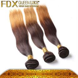 De Kleurstof van het haar zonder Weefsel van het Haar Ombre van de Zijde van Chemische producten het Maleise Rechte