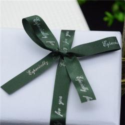 Ruban Rouge Bowknot imprimé personnalisé avec logo pour boîte cadeau Décoration Décoration/Holiday/Décoration de Noël