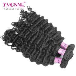 卸し売り深い波のペルーのバージンの毛のよこ糸