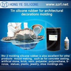 RTV Tin Cure molding Silicone في شكل سائل لريبين صناعة الحرفونات (HY625630)