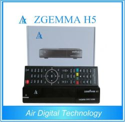 2016 Última Zgemma alta de CPU H5 FTA receptor SAT TV HD com núcleo duplo sistema operacional Linux E2 Hevc/H. 265 DVB-S2+ Hybrid DVB-T2/C sintonizadores duplos
