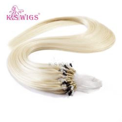 7A superiore Grade Human brasiliano Hair Micro Loop Hair Extension Blond Color 6001#