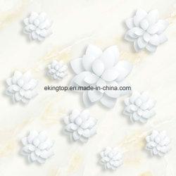 Mattonelle di pavimentazione lustrate lucidate 3D del getto di inchiostro di Grey/di colori crema