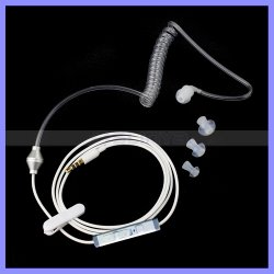 Mobile를 위한 Spring Retractable Cable를 가진 단 하나 Radiation Protection Air Coil Earphone Headset Headphones