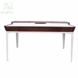 Роскошный цельной древесины металлические рамы для домашнего офиса, письменный стол с выдвижной ящик