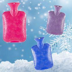 Format voyage charmant cute portable sacs d'eau chaude en PVC à chaud