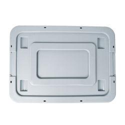 Caixa de armazenamento de plástico do recipiente de alta qualidade roupas caixas de plástico empilháveis gavetas de armazenamento com bloqueio