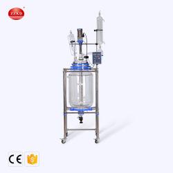 1L 5L 10L 20L 50L 100L'isolant chemisé pour de cristallisation de distillation en verre industriel Réacteur discontinu