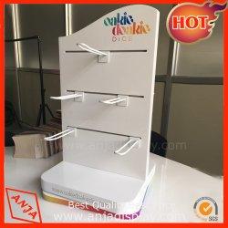 Kundenspezifische hölzernes/Metallspinnentisch-Oberseite-Schmucksache-Bildschirmanzeige mit Haken