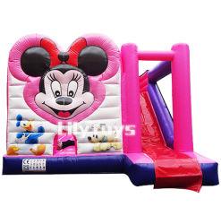 0.55mm Belüftung-Großverkauf verwendete kommerzielle aufblasbare Prahler-Spielwaren, Kind-aufblasbares federnd Schloss, aufblasbares Schlag-Haus mit Plättchen
