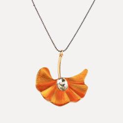 2018 новых прибыл украшения Vogue деликатный сплава листьев Ginkgo подвесная цепочка для женщин