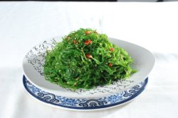 De gekruide Zeevruchten van Wakame van de Salade van het Zeewier