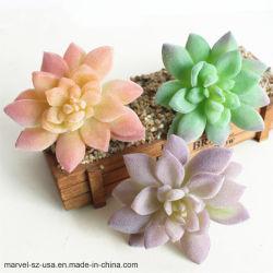 Lotus Paisagem Flor decorativa mini fábrica Succulents Falso Artificial Verde
