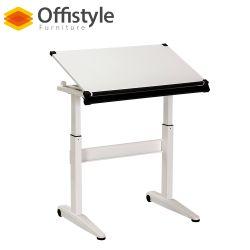 Blanc de levage de table à café de gaz réglables en hauteur ergonomique de bureau Ordinateur portable
