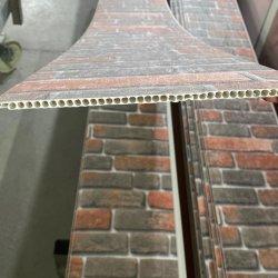 Precios baratos reflectante satinado mate de impresión en color blanco puro de la lámina de estampado en caliente en el techo de PVC laminado del Panel de pared de madera de Ladrillo de piedra de la hoja de panel de pared PVC
