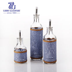 150ml Huile d'Olive Bouteille de verre Set Ustensiles de cuisine des bouteilles de vin de jeu de cuisine de la Sauce pot avec couvercle