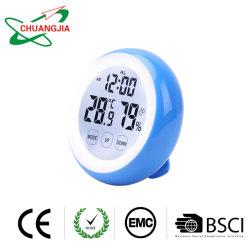 De digitale Wekker van de Meter van de Vochtigheid van de Temperatuur van de Hygrometer van de Thermometer Met de Sleutel van de Aanraking