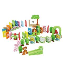 Barato Custom Venda por grosso de madeira criativa dominó brinquedos