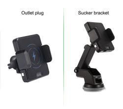 10W Chargeur de voiture sans fil automatique Capteur infrarouge Qi Forvarious Montage chargeur rapide sans fil Téléphones mobiles