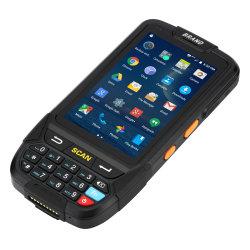 人間の特徴をもつ携帯用データエントリーターミナルRFID読取装置のバーコードのスキャンナーが付いている手持ち型のデータ収集装置PDA