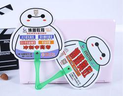 La promoción de plástico barato al por mayor de abanicos de PP Mini