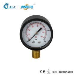 Anshi 50mm negro radial de la pintura de aerosol Manómetro para bomba de agua (PG-2-50)