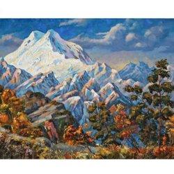 Pico de otoño de pintura de bricolaje por números paisaje pintura Caligrafía Digital de Arte Moderno de pared para la decoración del hogar