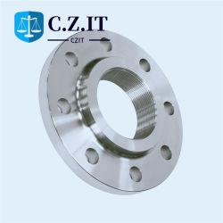 ANSI B16.5 Clase 150/300/600/900/1500/2500 S235JR galvanizado DIP caliente. Acero inoxidable al carbono brida de tubo roscado rosca Ss
