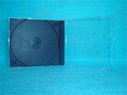 Estuche de CD CD Box CD Cover de 10,4mm cuadrado con una sola bandeja negra precio más barato de buena calidad