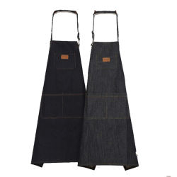 Paar-Mann-Frauen-Kaffeestube-Arbeits-Denim-Fußleisten-Küche-Schutzblech