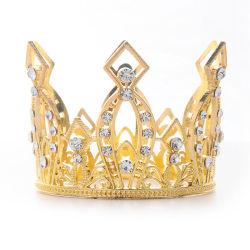 Altura Total Floral Crown Rhinestone Crystal Tiara Suite Casamento Acessórios de cabelo