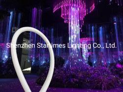 LED 화소 어드레스로 불러낼 수 있는 Madrix 실리콘 360 도 유연한 네온 밧줄 LED 지구 빛 크리스마스 Decoratios 결혼식 훈장 점화