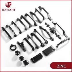 Design simples preto venda quente porta do gabinete de liga de zinco ou uma gaveta Puxadores
