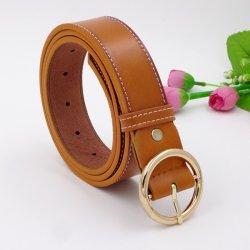 Les femmes PU seule boucle de ceinture en cuir de haute qualité de la courroie de robe de vêtements de couleur rouge