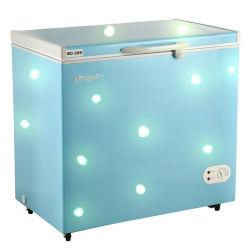 258L menos el 25 grado inferior de refrigeración Solar congelador horizontal de 12V DC