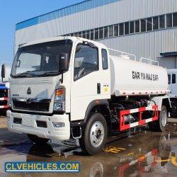 Sinotruk HOWO 4X2 10000 litros de água caminhão de sprinklers 6 Rodas 10m3 caminhão tanque de água