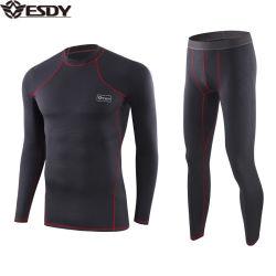 Os homens Esdy táctico de funcionalidade de fibra oca roupa térmica define