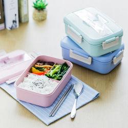 Doos van Bento van de Doos van de Lunch van het Stro van de Tarwe van de Microgolf van de douane de Promotie Plastic