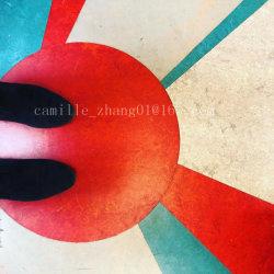 Vinylkindergarten-Drucken, das Innensport-Tanz-Raum-Badminton-Matte ausbreitet