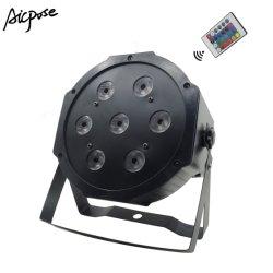 4in1 Apparatuur van DJ van het Stadium van het PARI van de Afstandsbediening 7X12W RGBW de Lichte