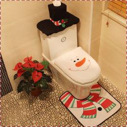크리스마스 훈장 눈사람 화장실 Three-Piece 크리스마스 훈장은 크리스마스 화장 도구를 버틴다