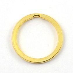 Pièces de métal gravée en vrac Keyring Logo personnalisé couleur or 25mm 35mm d'acier plat Titulaire de l'anneau de clé de la bague fendue