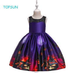 L'halloween vêtements sans manches de sorcière Tulle Parti robe de princesse Toddler Kids Baby Girls équiper des vêtements longs de l'usure