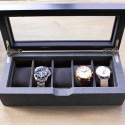 ガラス表示が付いている2つのカラー純木の腕時計のギフトの収納箱