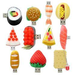 Bastone su ordinazione di memoria dei sushi del hot dog dell'azionamento 8GB 16GB 32GB dell'istantaneo del USB degli alimenti dell'hamburger