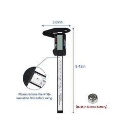 150mm 6 polegadas LCD digital Digital Eletrônico Paquímetro de fibra de carbono Craveira Micrómetro Comparador Micrômetro de medição - desligamento automático de recursos da ferramenta de medição