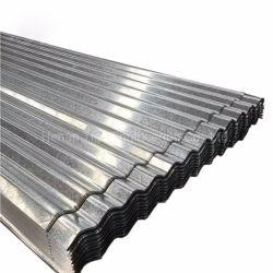 Fer galvanisé ondulé feuilles de matériau de construction en acier de toit