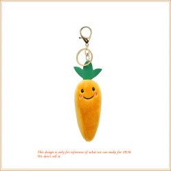 Customized adorável Cenoura Brinquedos de vegetais de pelúcia Key Ring
