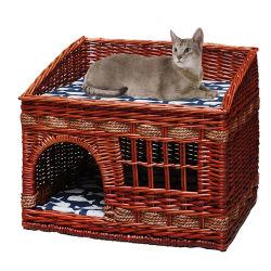 Novo Estilo Popular Wicker Cat House As medulas Mobiliário Pet