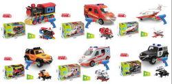 DIY СБОРКА RC погрузчик игрушка с музыкой и легкий DIY сборка поезд игрушка для автомобилей